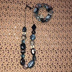 Aqua Necklace and Bracelet Set!
